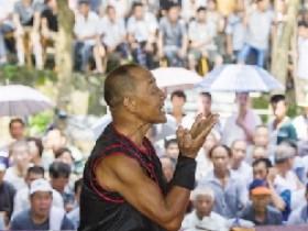 我市民间传统武术节昨日举行